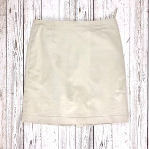 Gap mid-length cream skirt